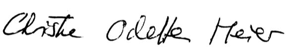 Unterschrift Christine Odette Meier - Burnouthilfe, Burnoutcoaching, Burnout-Bewältigung